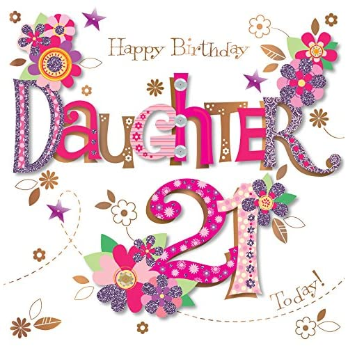 Daughter 21st Birthday Cards Amazon