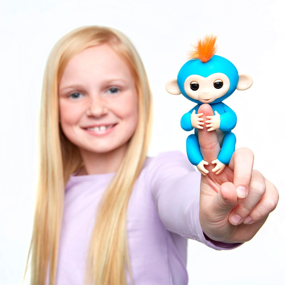 Fingerlings - Interactive Baby Monkey- Boris (Blue with Orange Hair) By WowWee by WowWee (Image #5)
