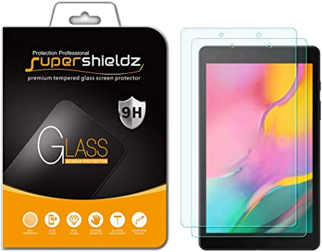 2 Pack Anti Scratch Bubble Free 2019 Tempered Glass Screen Protector SM-T290 Model only Supershieldz for Samsung Galaxy Tab A 8.0