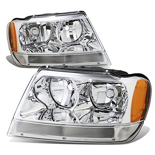 03 Jeep Grand Cherokee Headlight - DNA MOTORING HL-OH-JGC99-CH-AM Headlight Assembly