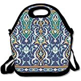 Staropor Arabic Floral Seamless Border Traditional Islamic Design Mosque Decoration Element Funniest Lunch Tote Lunch Bag School Reusable