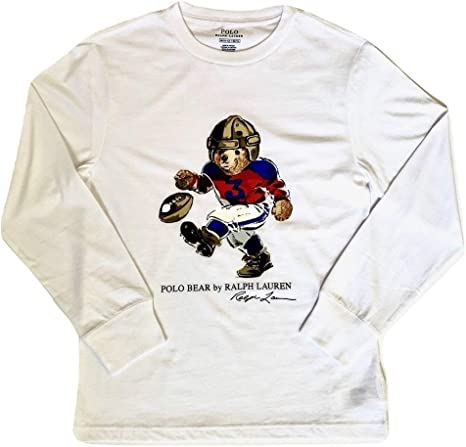 Polo Bear by Ralph Lauren - Camiseta de manga larga para niño - Blanco - Large: Amazon.es: Ropa y accesorios