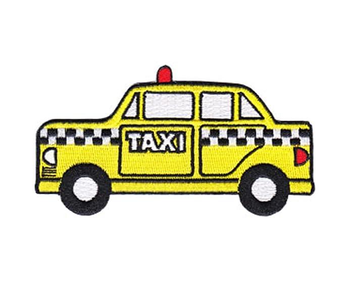 Transportation Patch Cartoon Taxi Cab Car Yellow