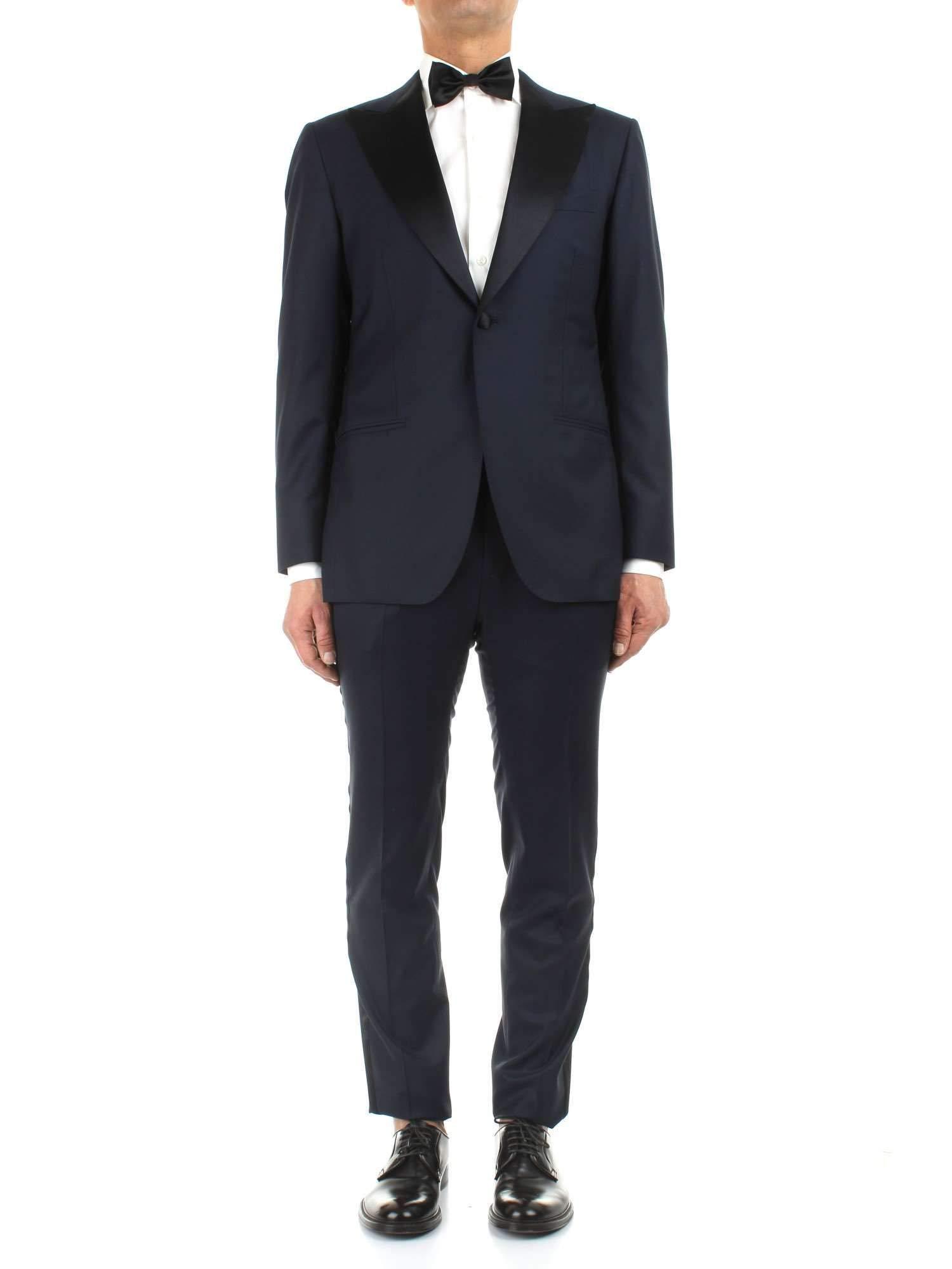 Kiton Luxury Fashion Mens UASM861K07R1504001 Blue Suit