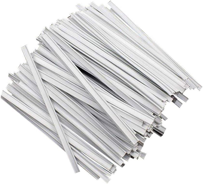 LEXUPE Lot de 50 Pinces pour Pont De Nez en Aluminium pour D/éCoration De Pont De Nez Cordon /éLastique Plat 10 cm