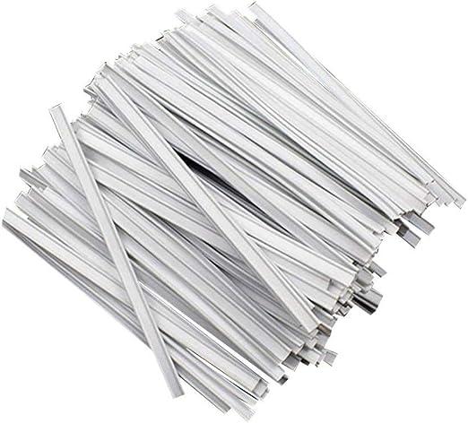Exceart 200 Piezas Tiras de Puente de Nariz Cable de Aluminio Tira de Aluminio Puente de Nariz para Cara Diy Haciendo Accesorios Pegamento de Fusi/ón en Caliente