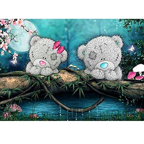 Weiliru DIY Diamond 5D Embroidery Paintings,Love Heart 5D Full Drill Embroidery Painting Kit 5D Decorating Diamond Painting Set for Living Room ()
