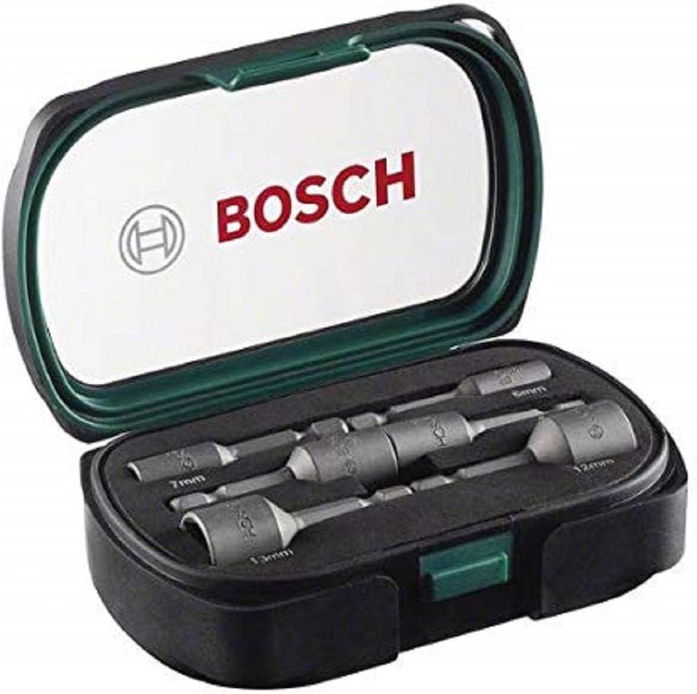 Bosch Home and Garden 2607017313 Bosch 2607017313-Set con 6 Llaves de Vaso, 50mm, Set de 6 Piezas