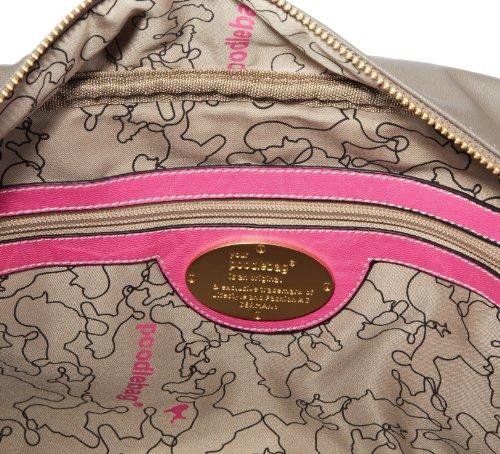 Poodlebags Funkyline - Exotic Remix - Golden Apple - pink snake - Bolsa de la compra de material sintético mujer multicolor - Mehrfarbig (pink snake)