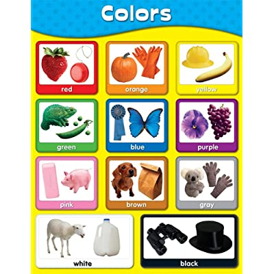 Carson Dellosa Colors Chart (114054) : Classroom Charts : Office Products