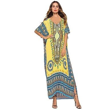 COZOCO Falda de Playa Casual Grande de la Moda del Vestido del ...
