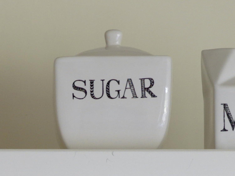 CreativeTops Stir It Up Ceramic Sugar Bowl White 10 x 8.5 x 8.5 cm