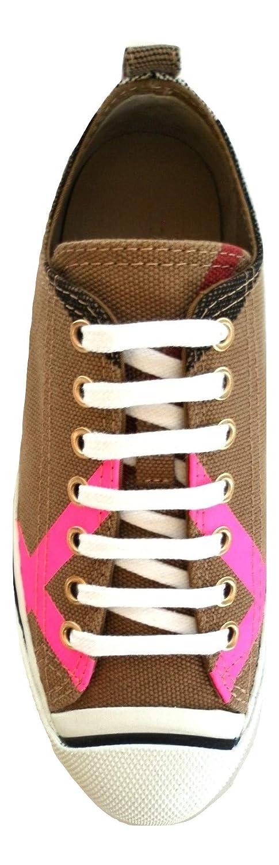 Burberry Scarpe Sneakers Donna in Tessuto 4066353 Classic - Neon Rosa   Amazon.it  Scarpe e borse c588ba484bb