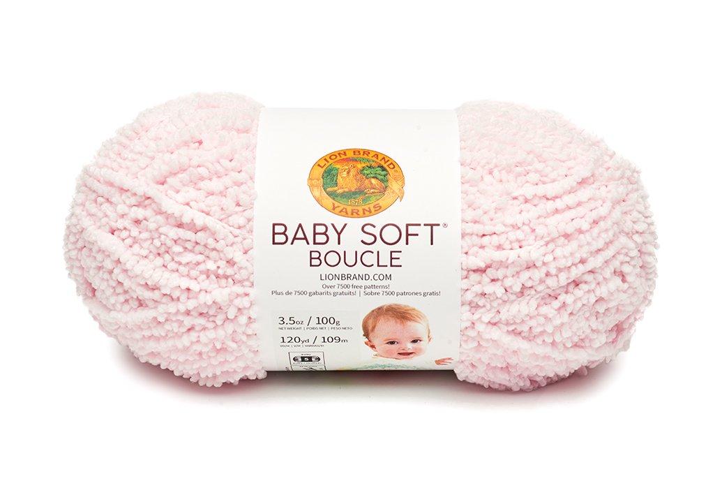Amazon Lion Brand Yarn 918 100 Baby Soft Boucle Yarn White