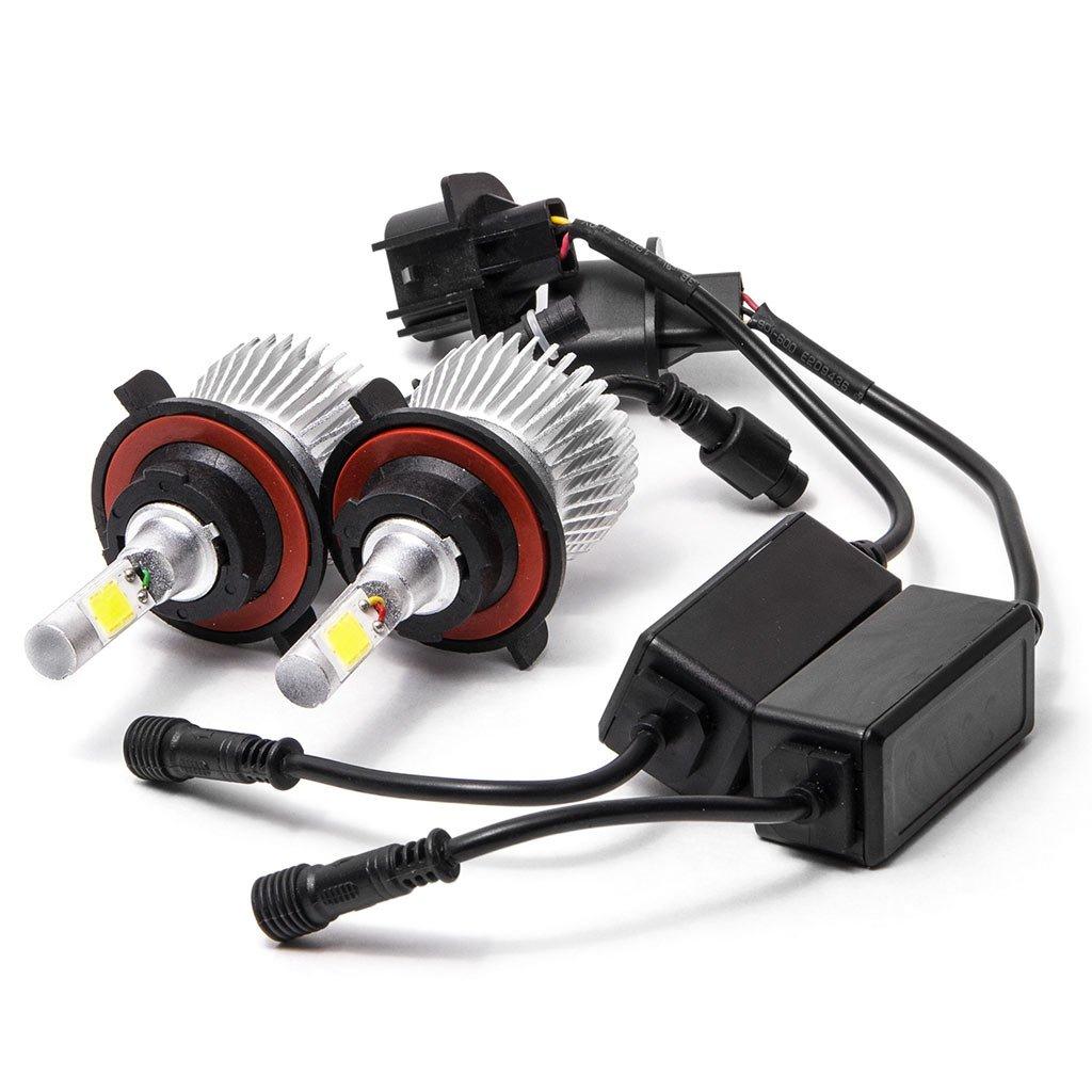 Biltek LED H13 Headlight Conversion Bulbs 40W 4000LM Light Bulbs 9008 Hi//Lo 6000K White KapscoMoto