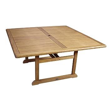 Table salon de jardin carrée bois d\'eucalyptus 150x150cm certifié ...