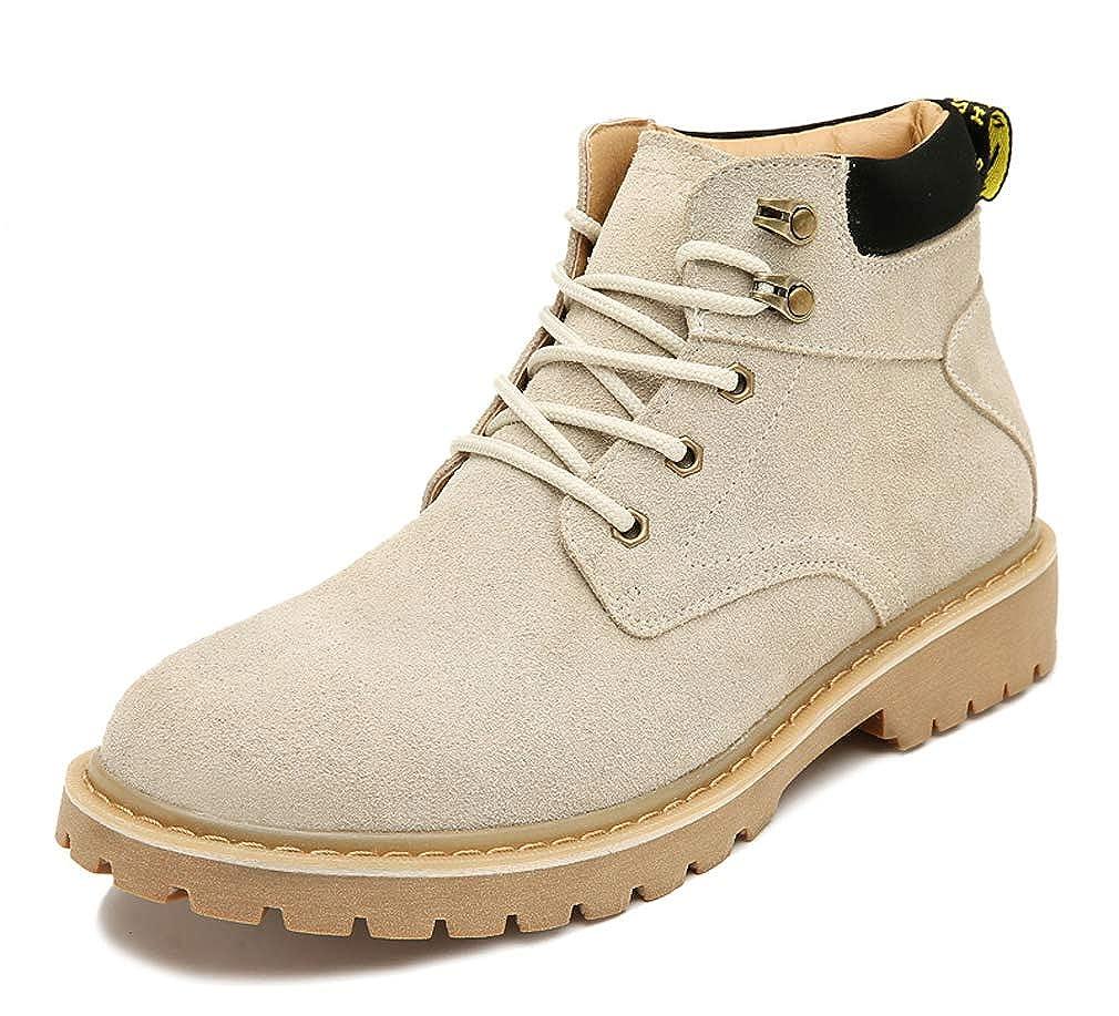 UB-TBA Mens Casual Brogue Martin Boot Mid-Top Lace-up/&Zipper Boots