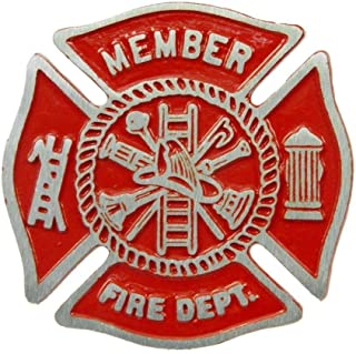 product image for Aluminum Grave Marker Firefighter, Cemetery Memorial Flag Holder, Fireman Plaque, Made in USA