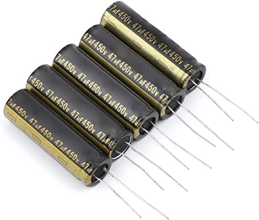 Condensadores electrolíticos de aluminio para televisor LCD, LED, 13 x 42 mm, 450 V, 47 UF (5 unidades): Amazon.es: Hogar