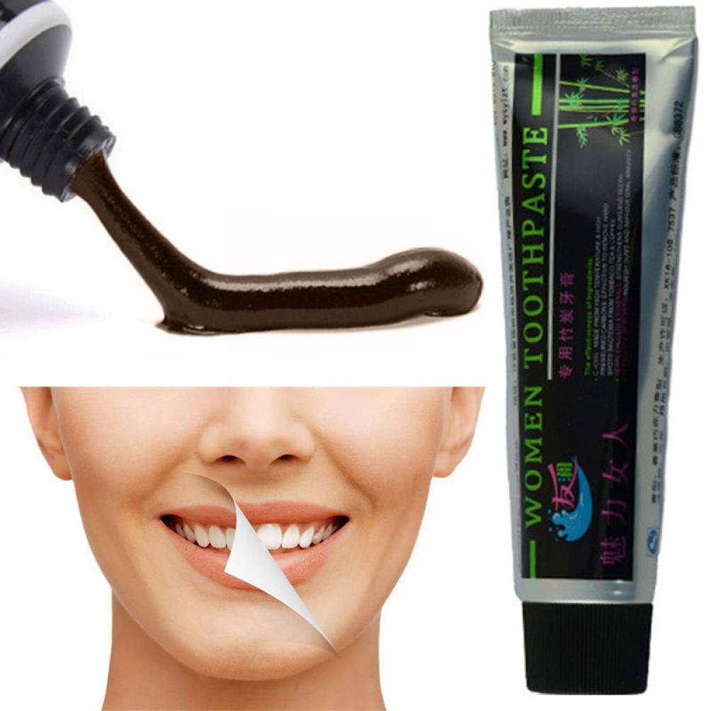 Hunpta 100g New Natural Bamboo Charcoal Black Whitening Toothpaste Whitener Tooth Paste (Black)