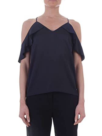 Pinko Amazon In Satin Top Blu 1b135a6875g56 Scuro it Elizabeth gqP04Zg