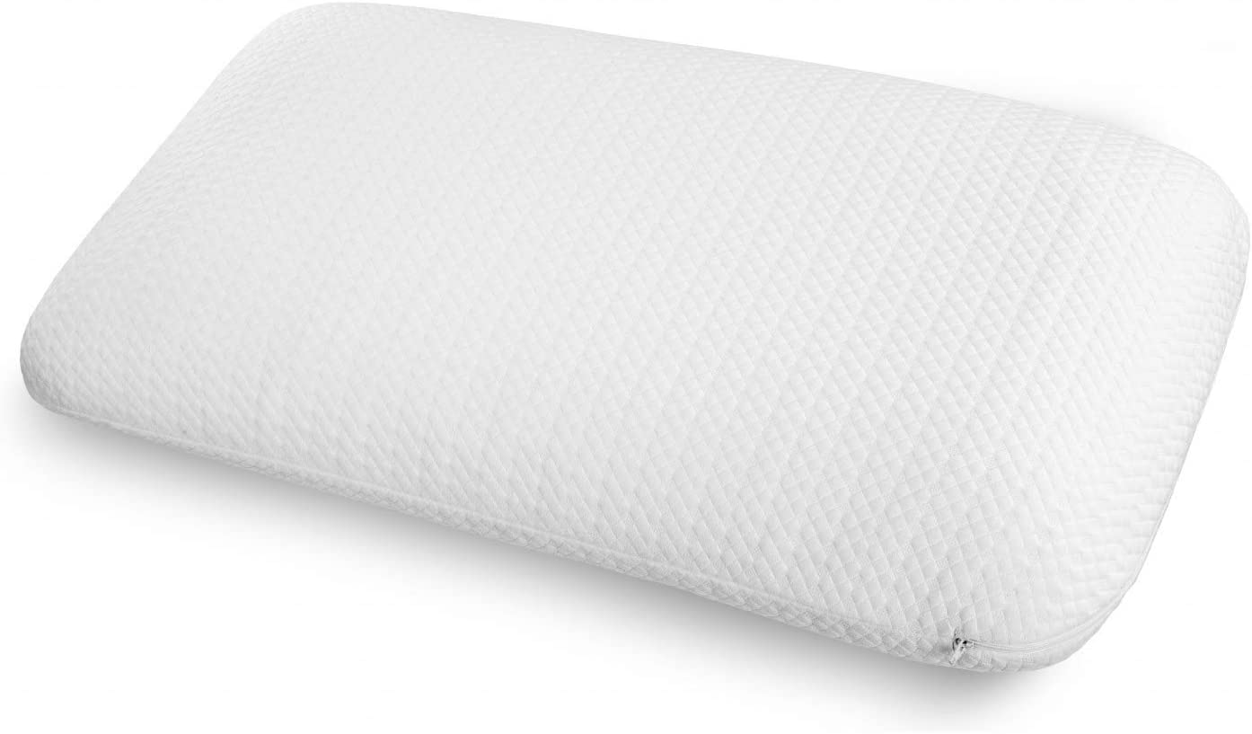 Ambesonne Visco Foam Pillow with Brushed Microfiber Cover, Extra Elastic Pad with Ergonomic and Orthopedic Qualities Double Inner and Outer Washable Shams, 36