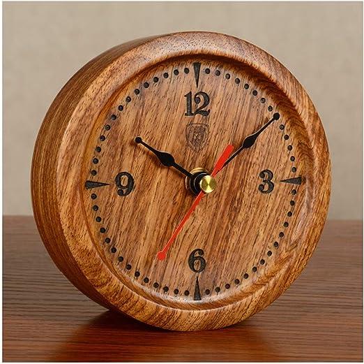 X-HH Reloj de Mesa, Silencio Pequeño Reloj de Mesa de Moda de Gama ...