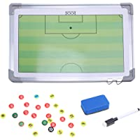 LIOOBO Football Coaching Board Kit Set Soccer Magnetic Tactic Board with Dry Erase Zipper and Marker Pen Portable Coach…