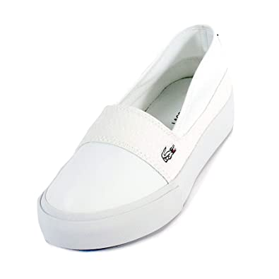 8d5792db4 Lacoste Women s Marice Plus Grand 119 2 Slip On Trainer White White-White-