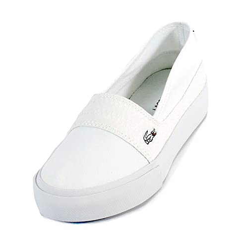 71e8b0336 Lacoste Marice Plus Grand 119 2 CFA Canvas Women Platform Slip On Trainers  in White 737CFA0033 21G  Amazon.co.uk  Shoes   Bags