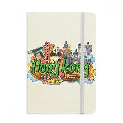 DIYthinker Panda Hong Kong Graffiti Notebook Tela cubierta ...