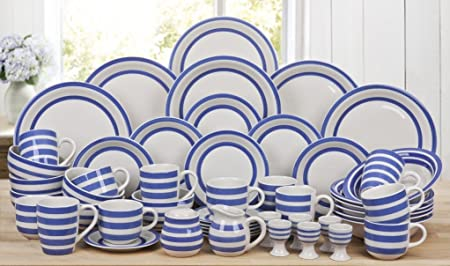50 Piece Burford Blue Stripe Dinner Set & 50 Piece Burford Blue Stripe Dinner Set: Amazon.co.uk: Kitchen \u0026 Home