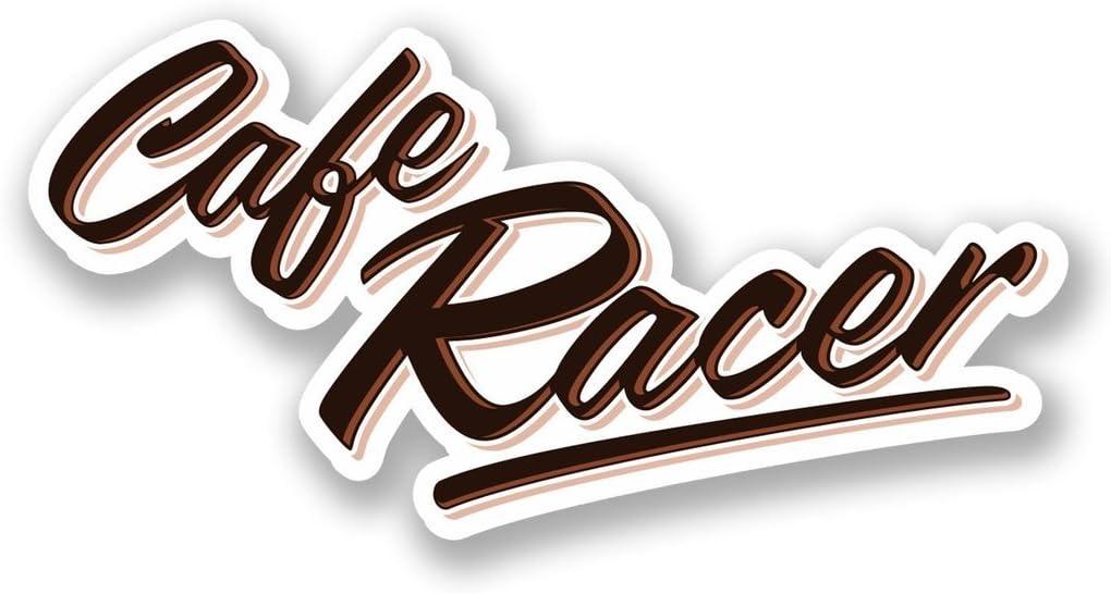 2 x 10cm//100 mm Cafe Racer Vinile adesivo STICKER ADESIVO da viaggio per portatile auto bagagli segno Fun #5501