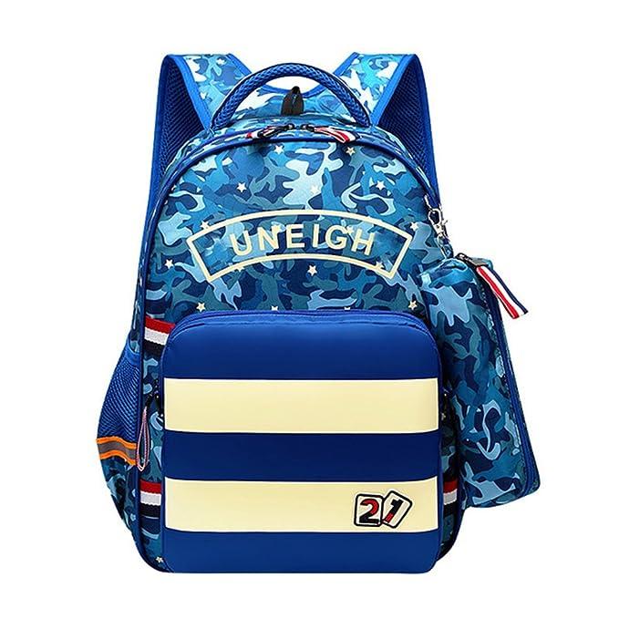 Zhhlaixing Niño Mochilas Calidad Nylon Mochila Color de Camuflaje School Backpack para Escuela Primaria Estudiante Moda: Amazon.es: Ropa y accesorios