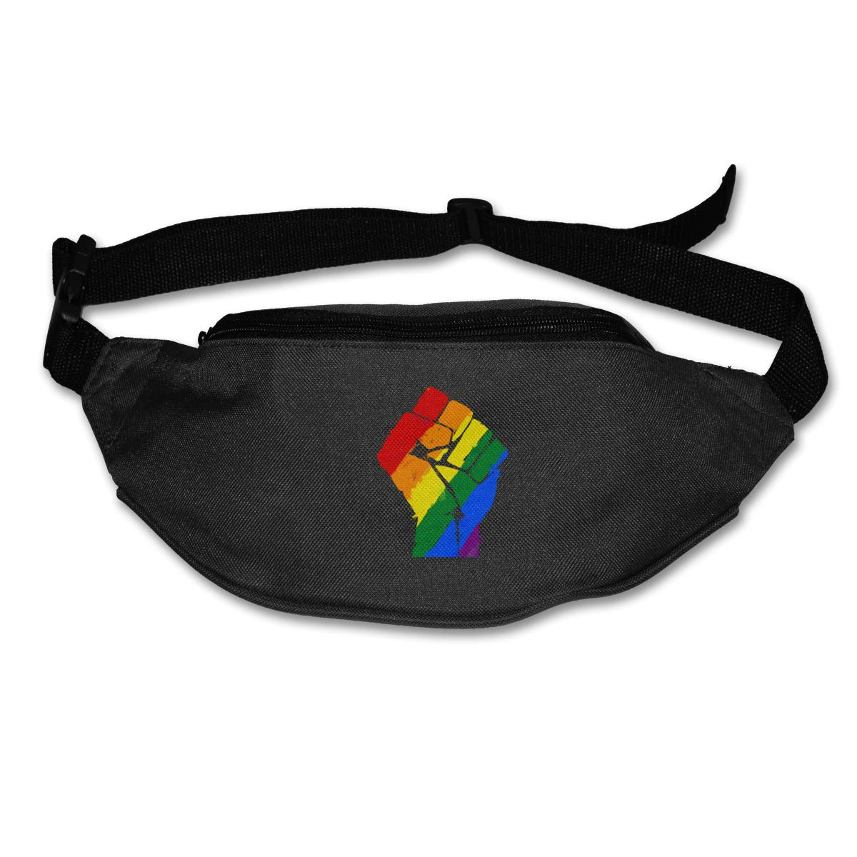 LGBT Pride Rainbow Flag Fist Sport Waist Pack Fanny Pack Adjustable For Run