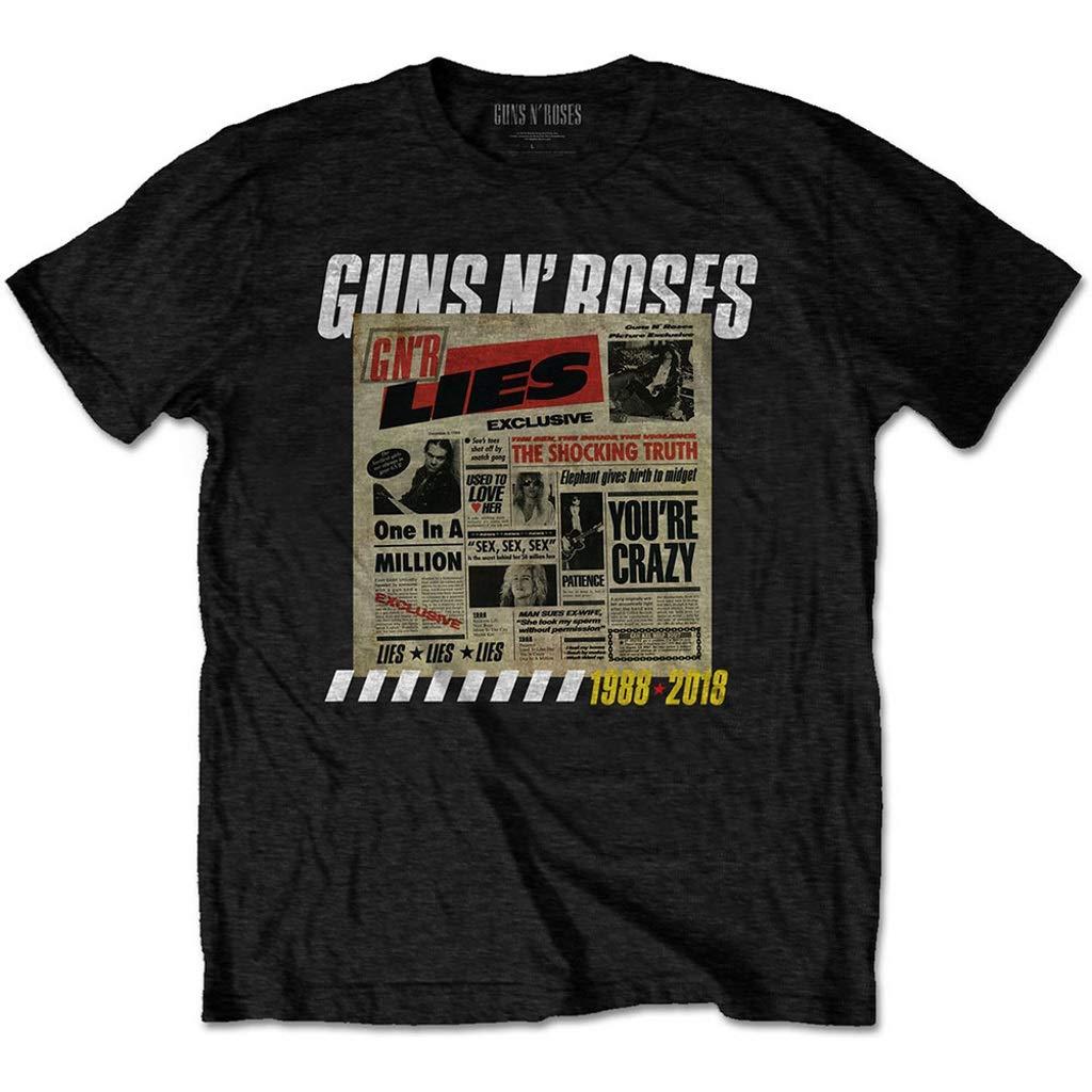 Black T-Shirt Guns N Roses Lies Album Cover