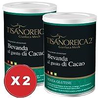 Offerta! Bevanda Cacao Tisanoreica 2 Confezioni da 350 grammi - Gianluca Mech