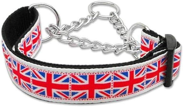 Mirage Mosaico Unión Jack Bandera de Reino Unido Nylon Cinta Martingale Collar de Perro: Amazon.es: Productos para mascotas