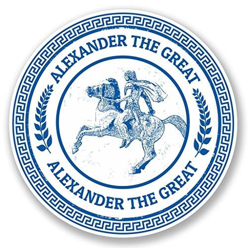 5102 Van - 2 x 15cm/150mm Alexander The Great Window Cling Sticker Car Van Campervan Glass #5102