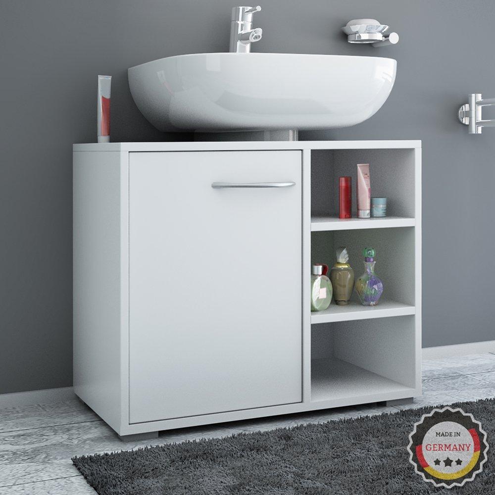 Waschtischunterschrank PERRY Weiß - Made in Germany - Unterschrank ... | {Waschtischunterschrank weiß 51}