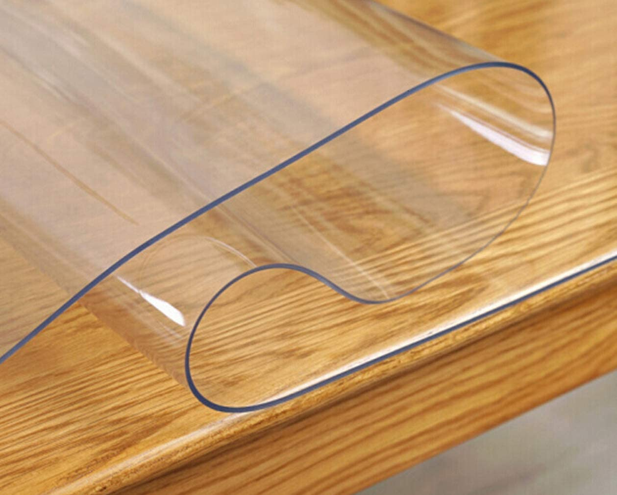 2 Sets 16 x 24 Inch Clear Table Pads Desk Cover Mat Plastic Table Protector PVC Tablecloth Cover Vinyl Table Cloths Waterproof Wipeable Furniture Topper Desk Writing Pads for Computer, Coffee Table