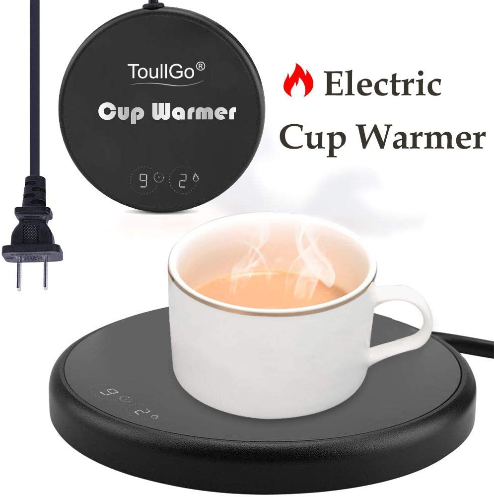 Coffee Warmer,Coffee Mug Warmer,Smart Coffee Warmer,Electric Beverage Warmer,With Two Temperature Settings,Best Gift Idea, Office/Home Use Electric Cup Beverage Plate, Water,Milk (Coffee Warmer-Black)