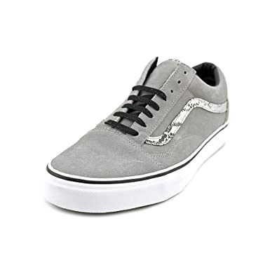 Men's Old Skool Skateboarding Shoe (Snake) Frost Grey/Silver (11)