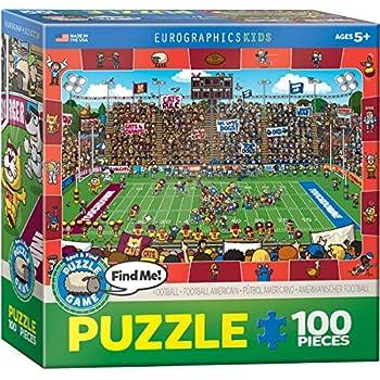 Amazon.com: Eurographics Fútbol Spot & encontrar Puzzle (100 ...
