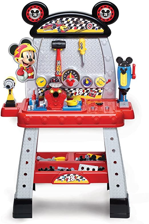 Disney Mickey Mouse Roadster Tool Set Ages 3 Toy Build Tools Workshop Garage