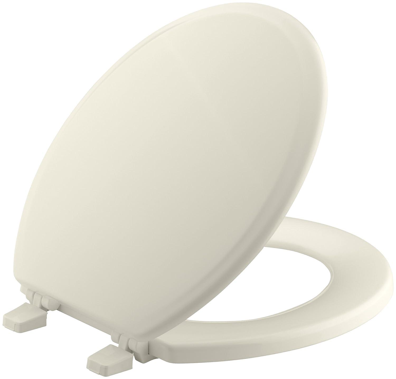 small round toilet seat. KOHLER K 4695 0 Ridgewood Molded Wood with Color Matched Plastic Hinges  Round front Toilet Seat White Amazon com