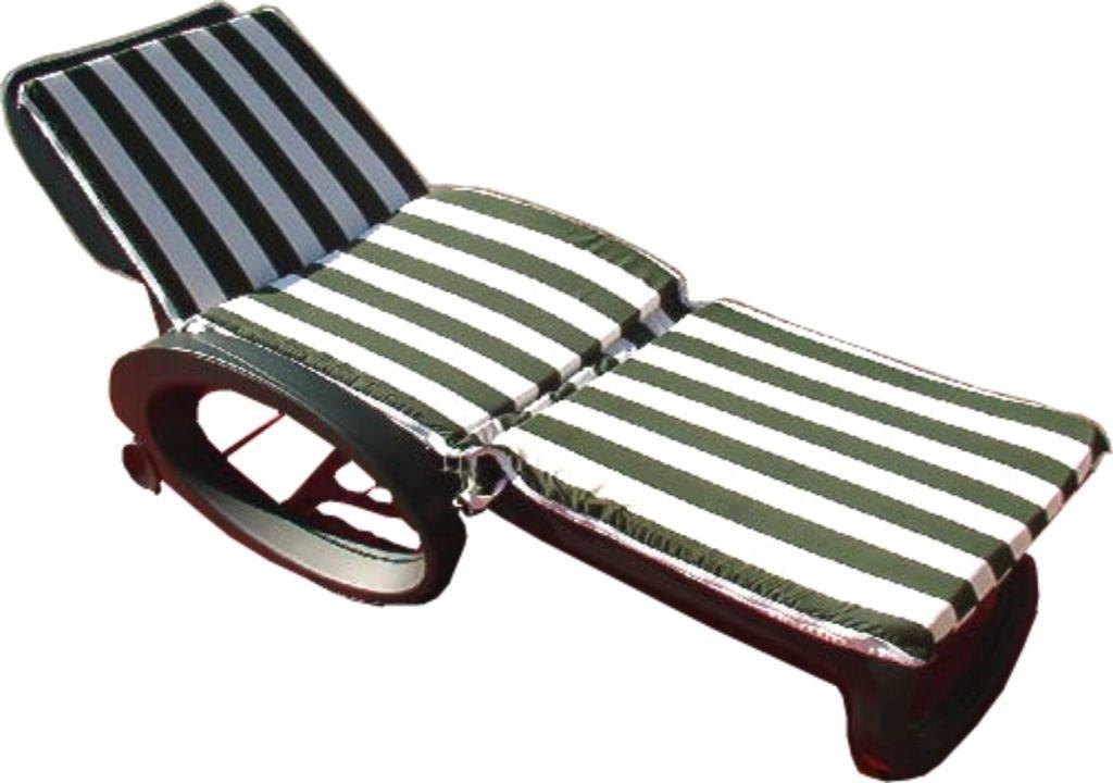 Cuscino x lettino bianco/verde piscina relax mare