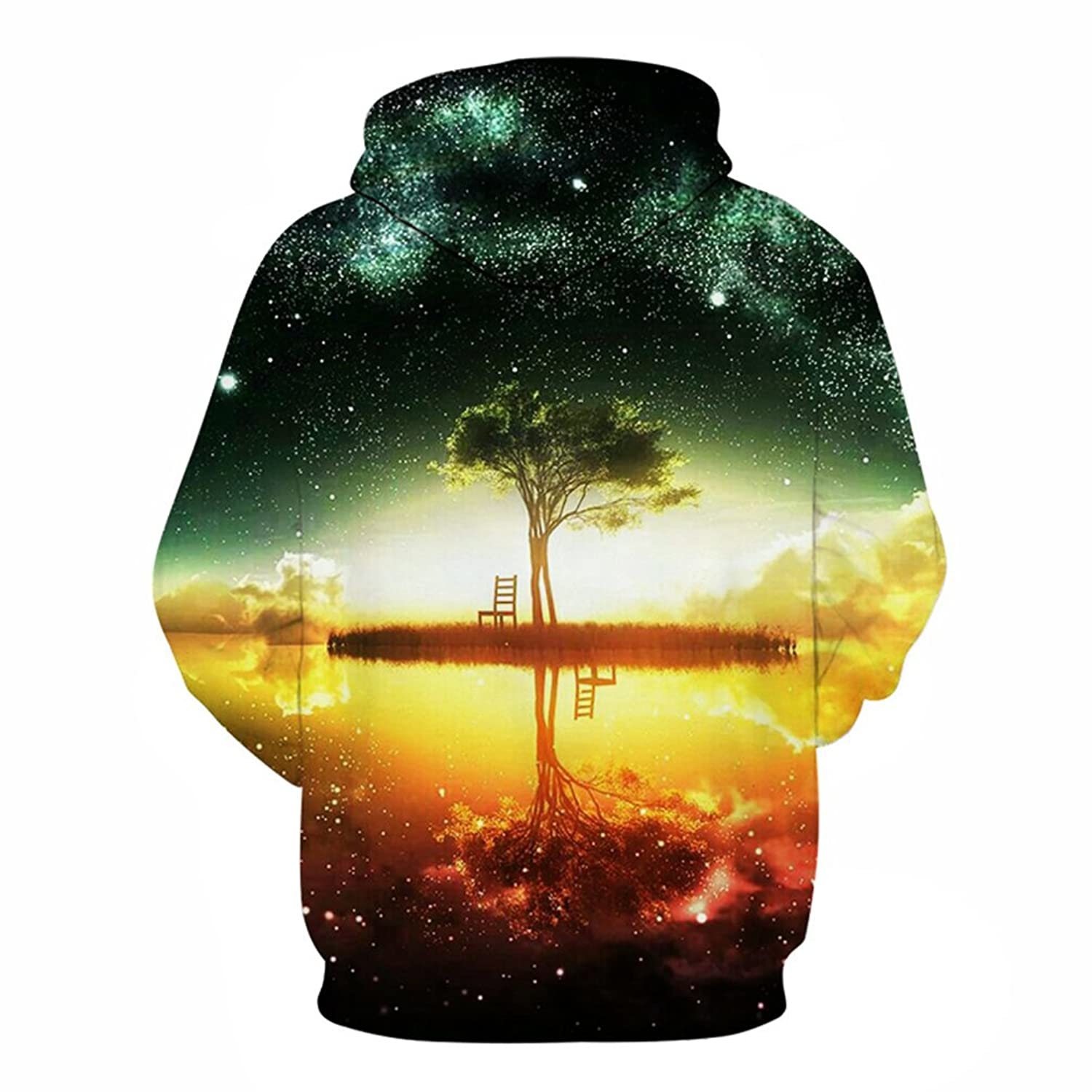Space Galaxy Hoodies Sweatshirt New Tree Lake Chiar 3D Hooded Hoody Sudadera Hombre Casual Outwear Tracksuit Men Dropship Hoodies Men 6XL at Amazon Mens ...