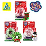 Christmas PlushCraft Ornament Craft Kits 3-Pack Bundle with Wreath, Stocking and Tree