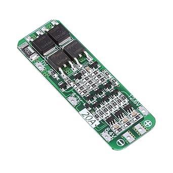 3Pcs 12.6V 20A Carte BMS Protection de R/éparation pour de Lithium Li-Ion Contre Surintensit/é Court-circuit Panneau de Protection PCB